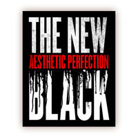 Aesthetic Perfection The New Black Die Cut Vinyl Sticker